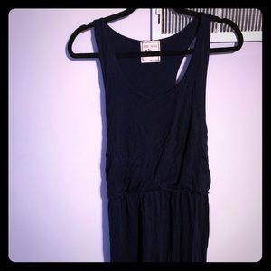Navy blue racerback cotton Maxi dress